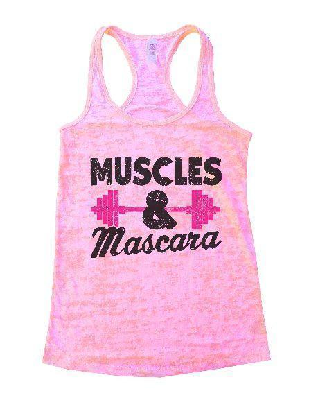 Muscles & Mascara Burnout Tank Top By Funny Threadz Funny Shirt Small / Light Pink