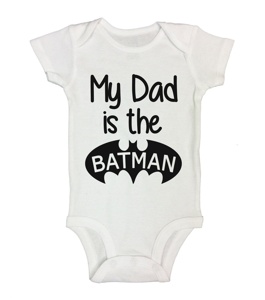 My Dad Is The Batman Funny Kids Onesie Funny Shirt Short Sleeve 0-3 Months