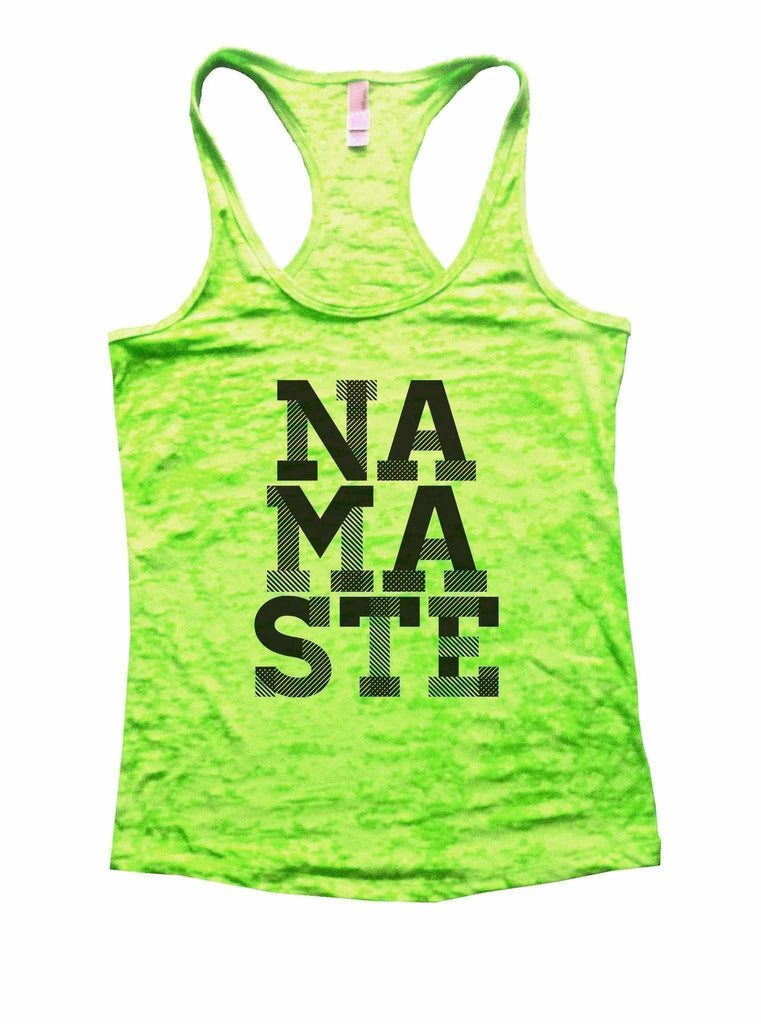 Namaste Burnout Tank Top By Funny Threadz Funny Shirt Small / Neon Green