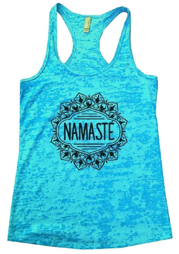 NAMASTE Burnout Tank Top By Funny Threadz Funny Shirt Small / Tahiti Blue