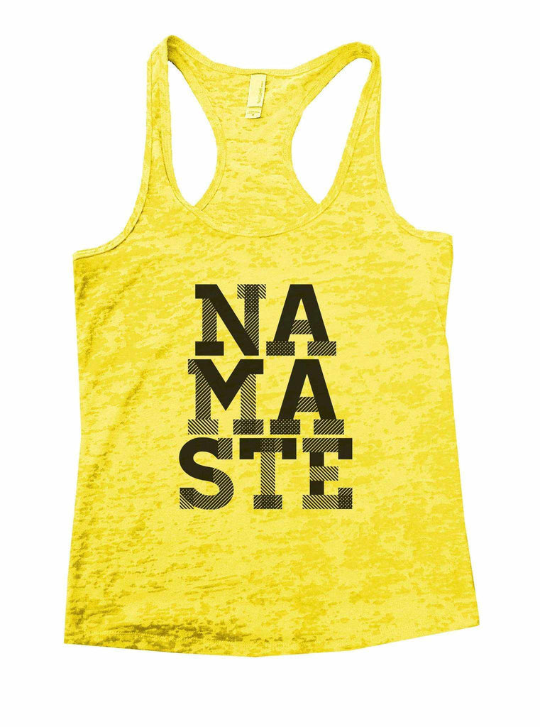 Namaste Burnout Tank Top By Funny Threadz Funny Shirt Small / Yellow