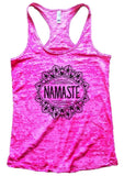 NAMASTE Burnout Tank Top By Funny Threadz Funny Shirt Small / Shocking Pink