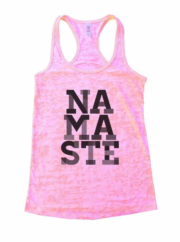 Namaste Burnout Tank Top By Funny Threadz Funny Shirt Small / Light Pink