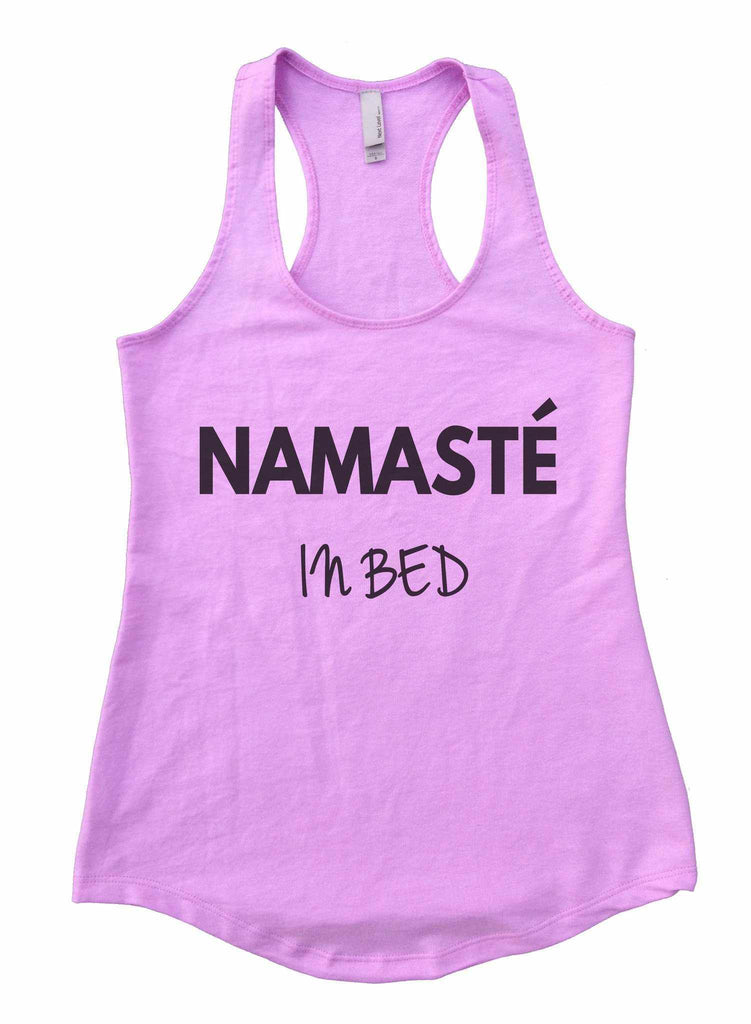 Namaste In Bed Womens Workout Tank Top Funny Shirt Small / Lilac