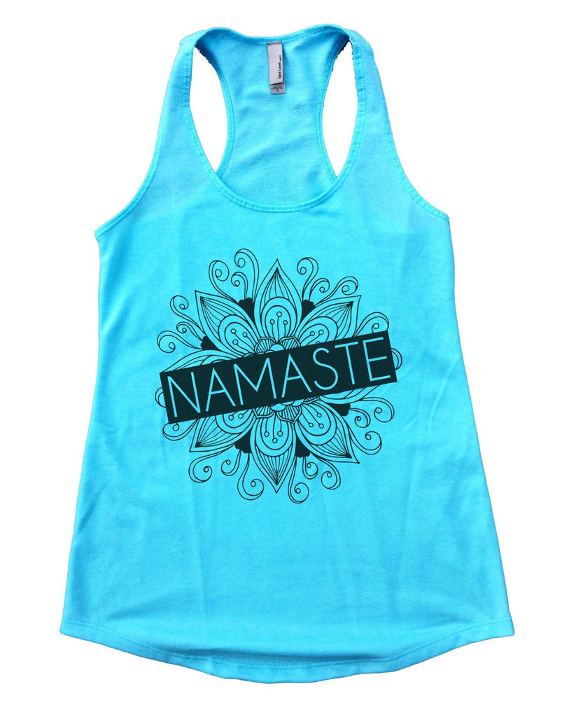 Namaste Womens Workout Tank Top Funny Shirt Small / Cancun Blue