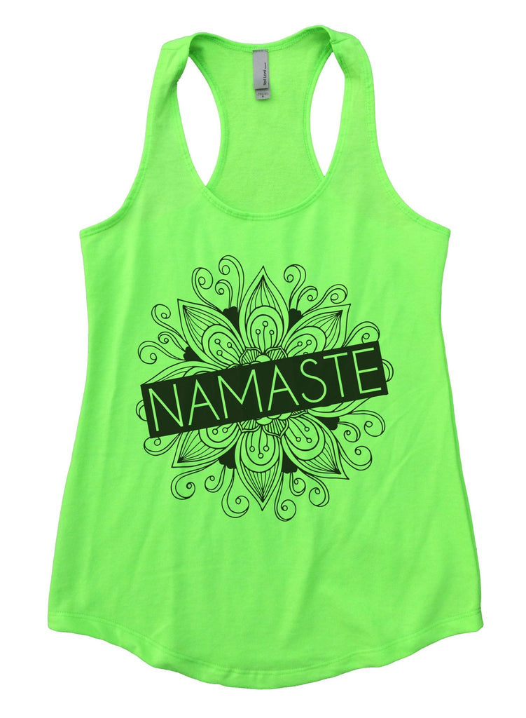 Namaste Womens Workout Tank Top Funny Shirt Small / Neon Green