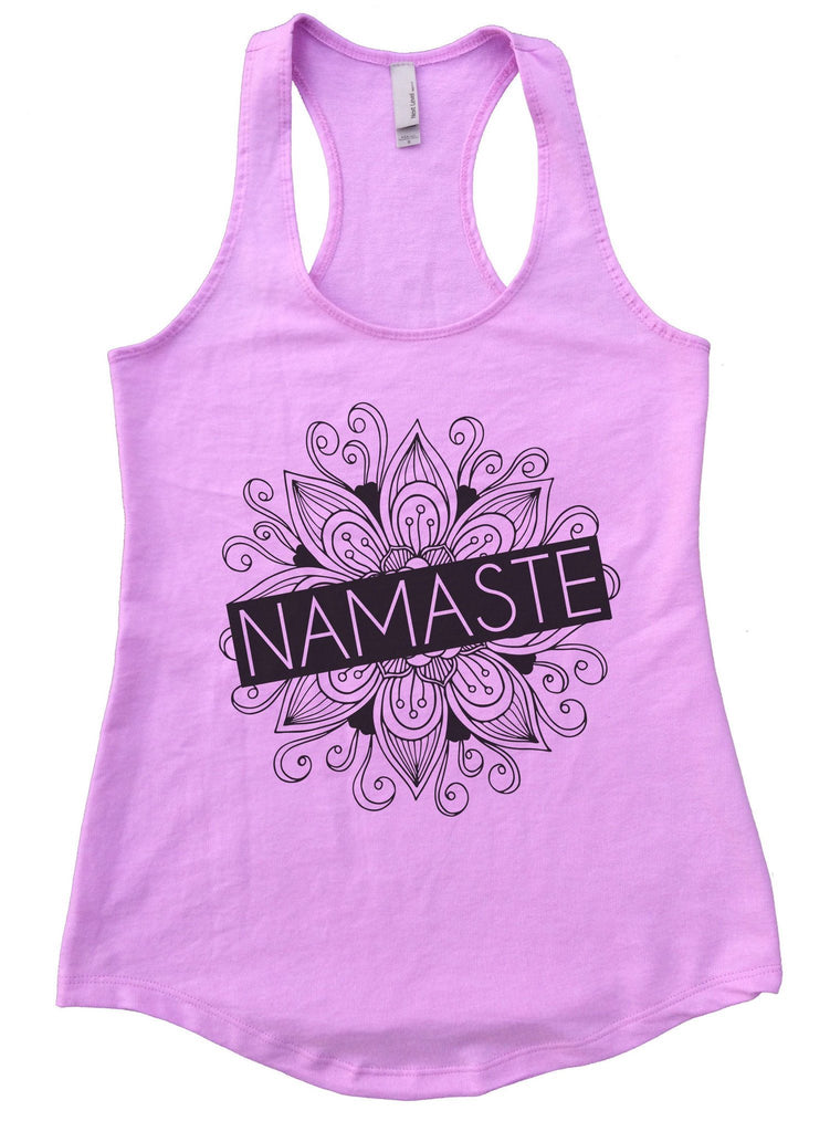 Namaste Womens Workout Tank Top Funny Shirt Small / Lilac