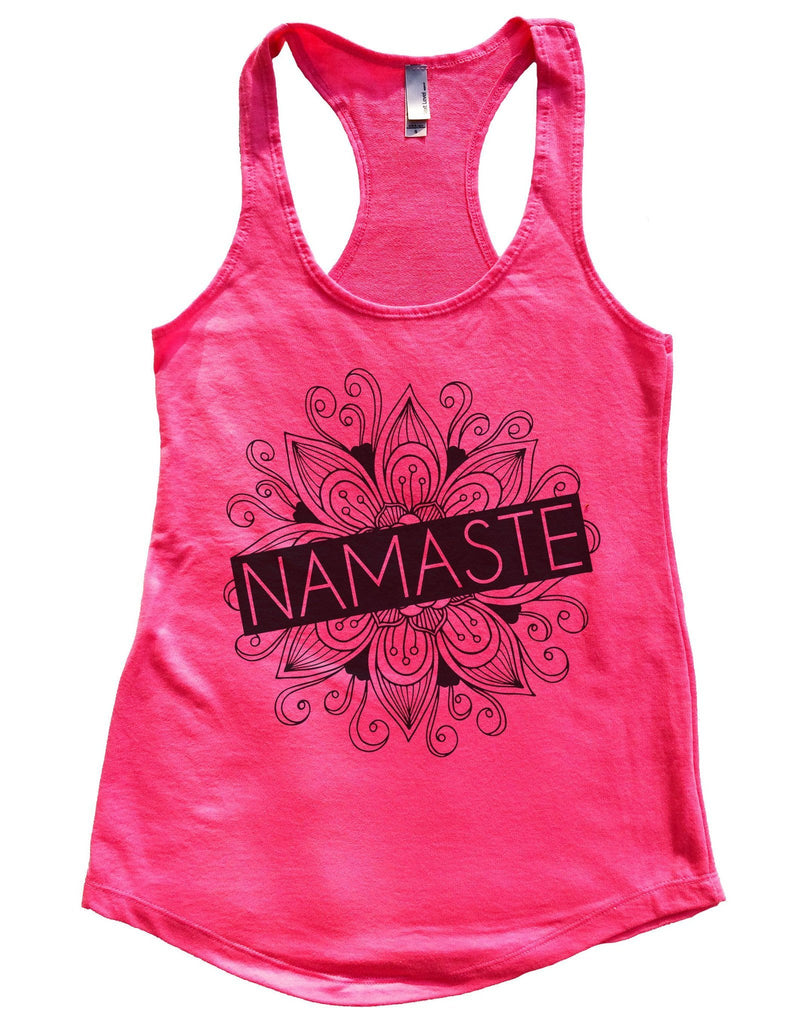 Namaste Womens Workout Tank Top Funny Shirt Small / Hot Pink