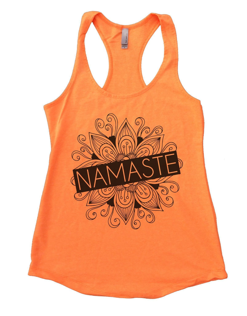 Namaste Womens Workout Tank Top Funny Shirt Small / Neon Orange