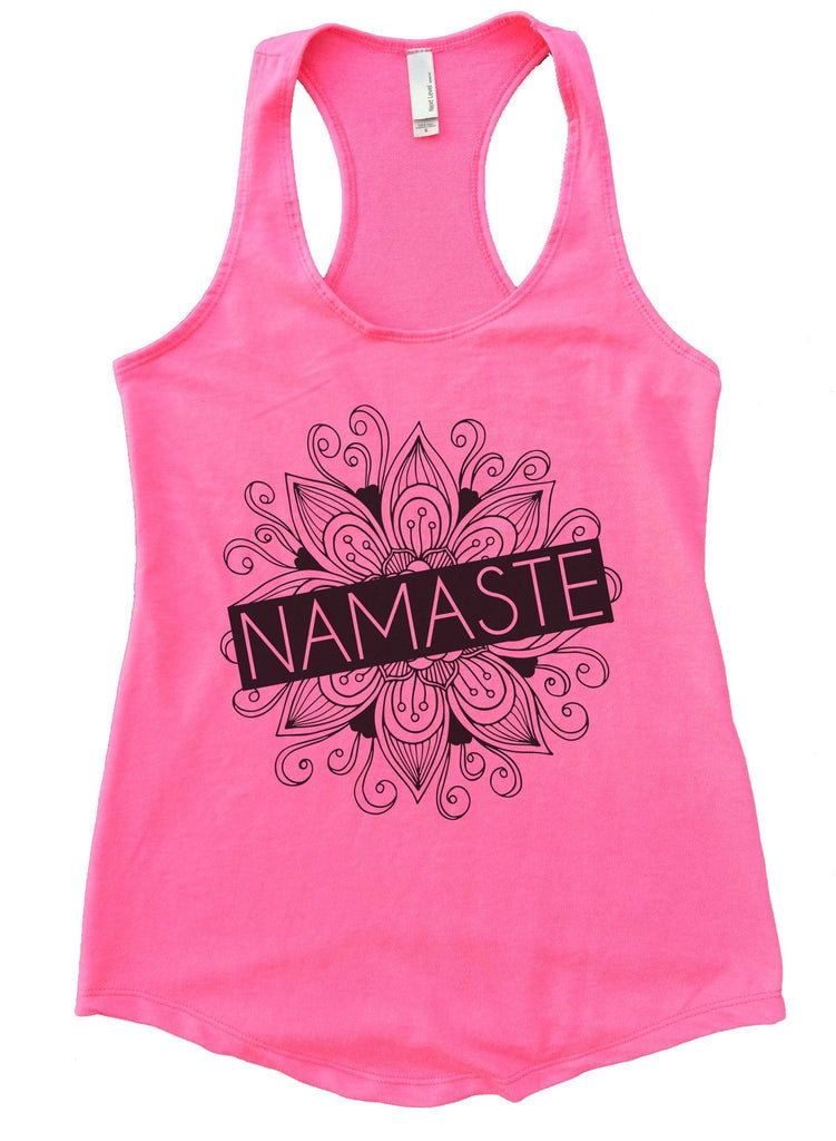 Namaste Womens Workout Tank Top Funny Shirt Small / Heather Pink