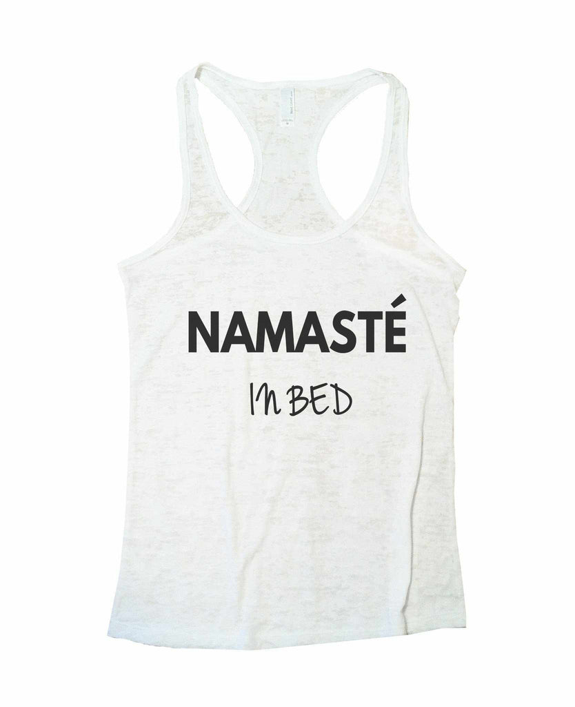 Namaste Womens Yoga Fitness Burnout Tank Top by Funny Threadz Brand Funny Shirt