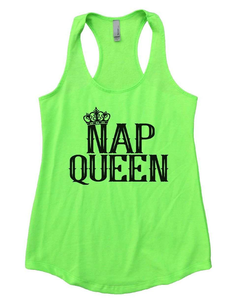 NAP QUEEN Womens Workout Tank Top Funny Shirt Small / Neon Green