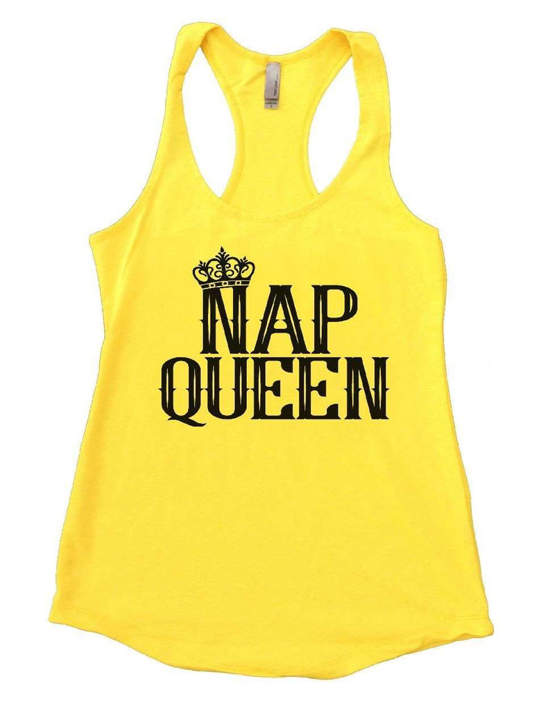 NAP QUEEN Womens Workout Tank Top Funny Shirt Small / Yellow