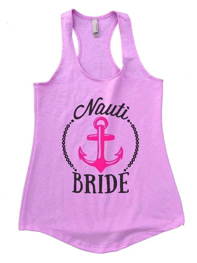 Nauti Bride Womens Workout Tank Top Funny Shirt Small / Lilac