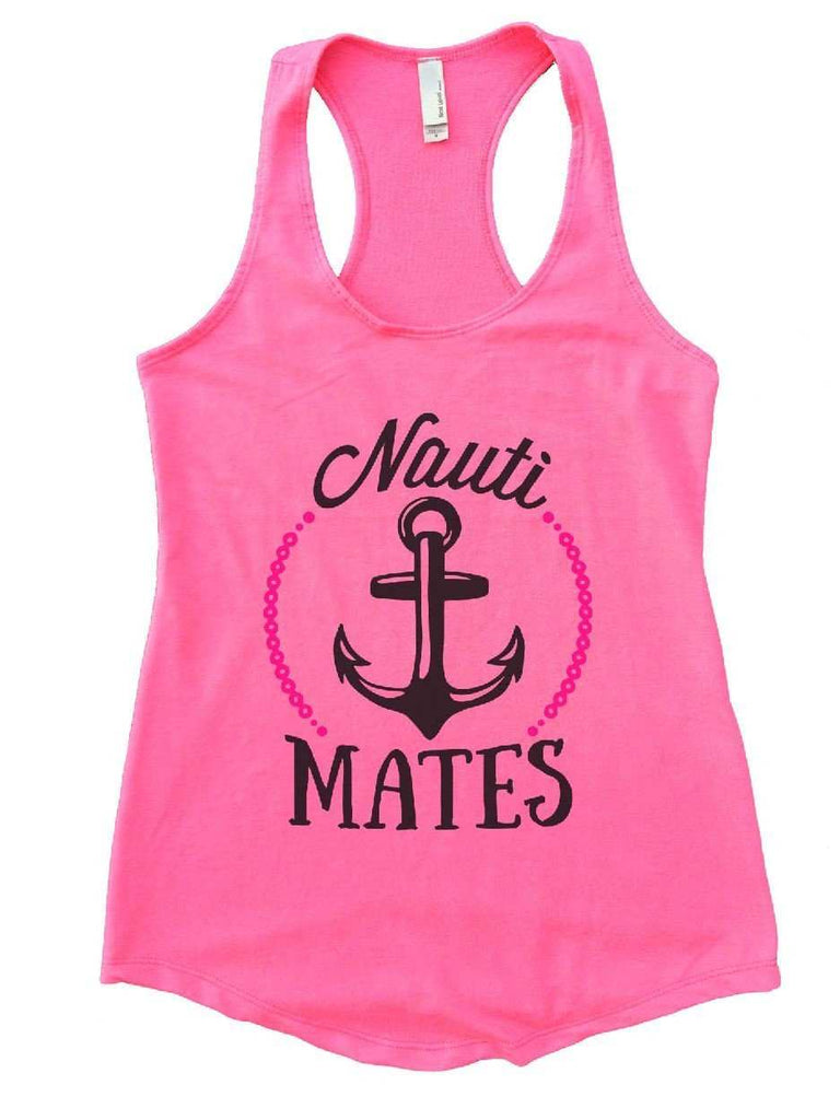 Nauti Mates Womens Workout Tank Top Funny Shirt Small / Heather Pink