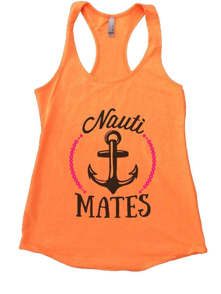 Nauti Mates Womens Workout Tank Top Funny Shirt Small / Neon Orange