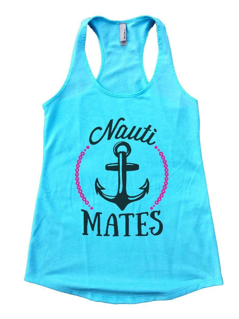 Nauti Mates Womens Workout Tank Top Funny Shirt Small / Cancun Blue