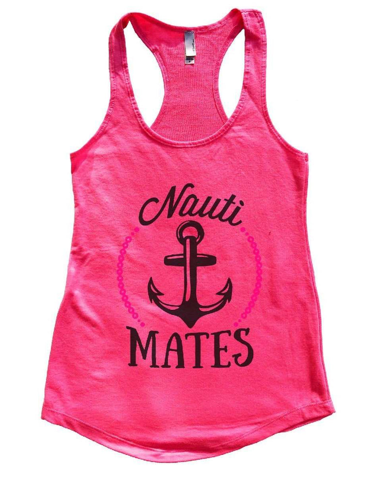 Nauti Mates Womens Workout Tank Top Funny Shirt Small / Hot Pink