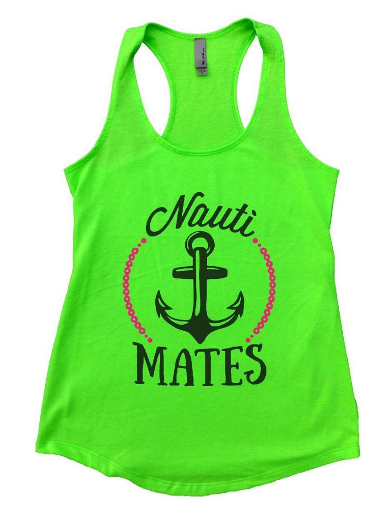 Nauti Mates Womens Workout Tank Top Funny Shirt Small / Neon Green