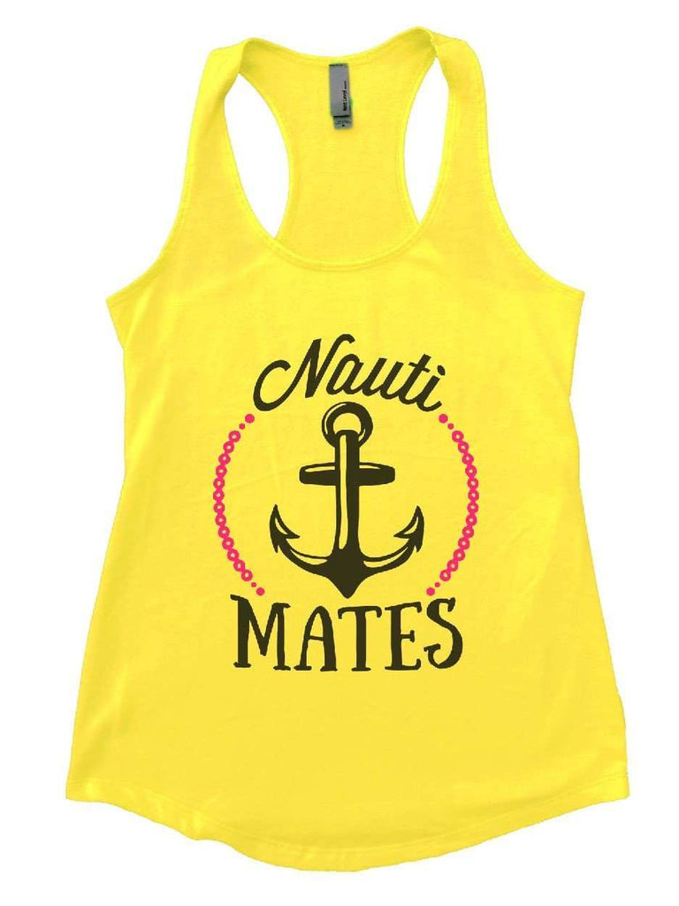 Nauti Mates Womens Workout Tank Top Funny Shirt Small / Yellow