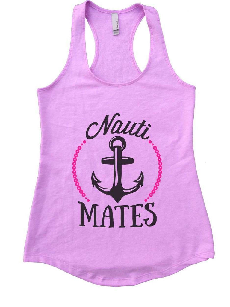 Nauti Mates Womens Workout Tank Top Funny Shirt Small / Lilac