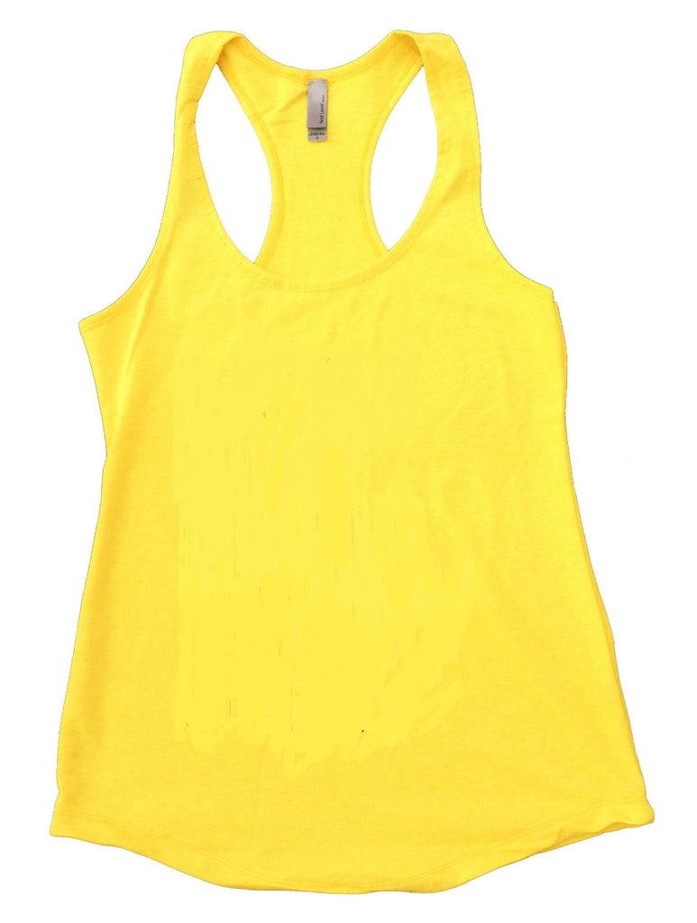 Never ENOUGH COFFEE Womens Workout Tank Top Funny Shirt Small / Yellow