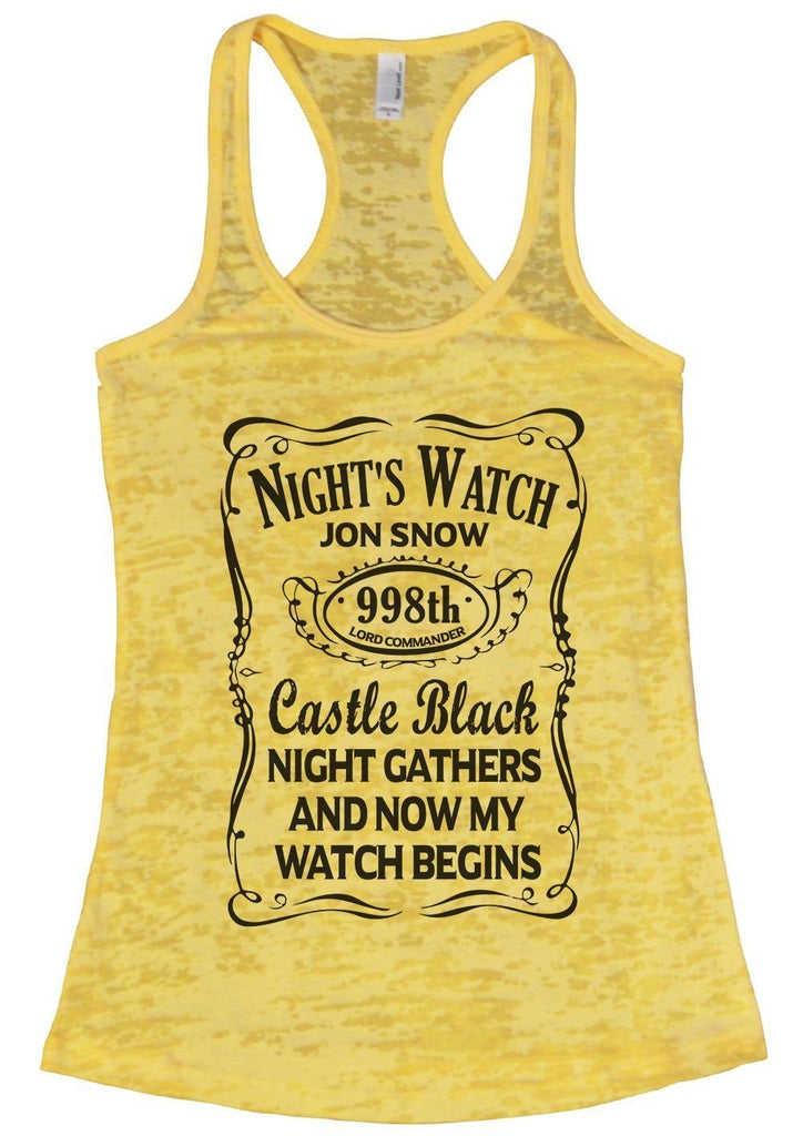 Night's Watch Jon Snow Caste Black Night Gathers And Now My Watch Begins Funny Shirt Small / Yellow