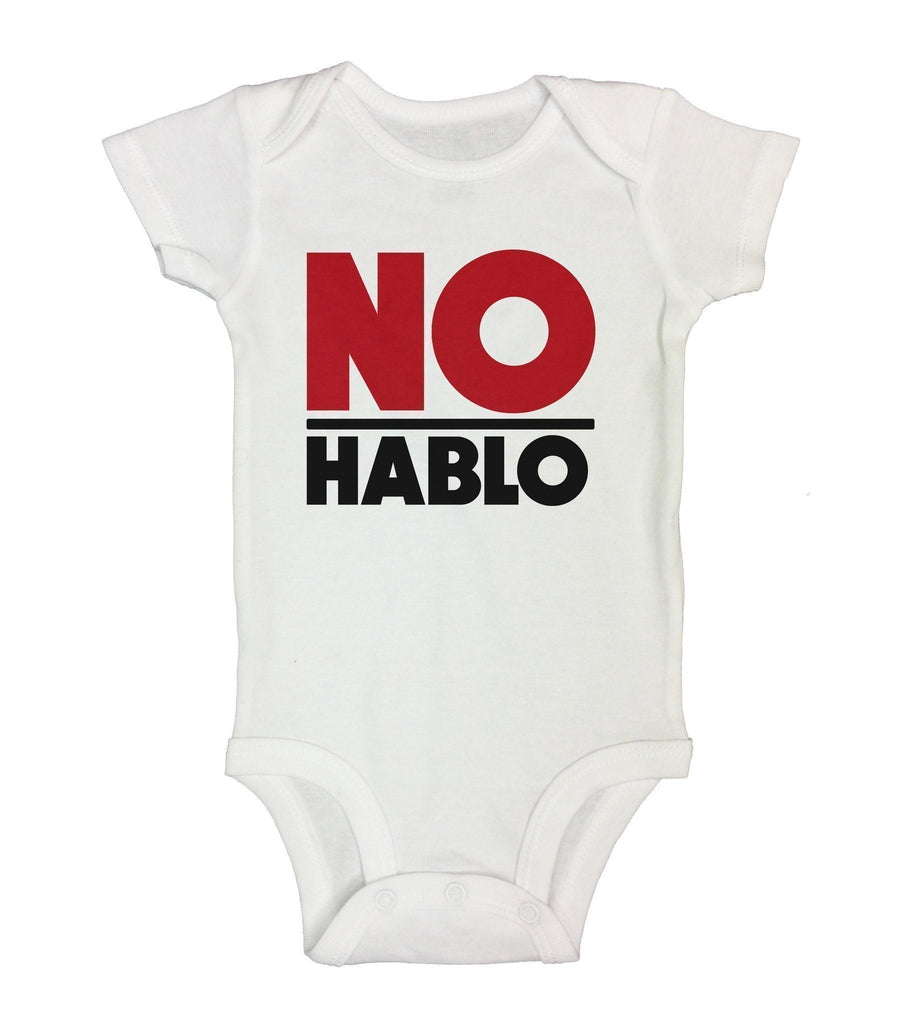 No Hablo Funny Kids Onesie Funny Shirt Short Sleeve 0-3 Months