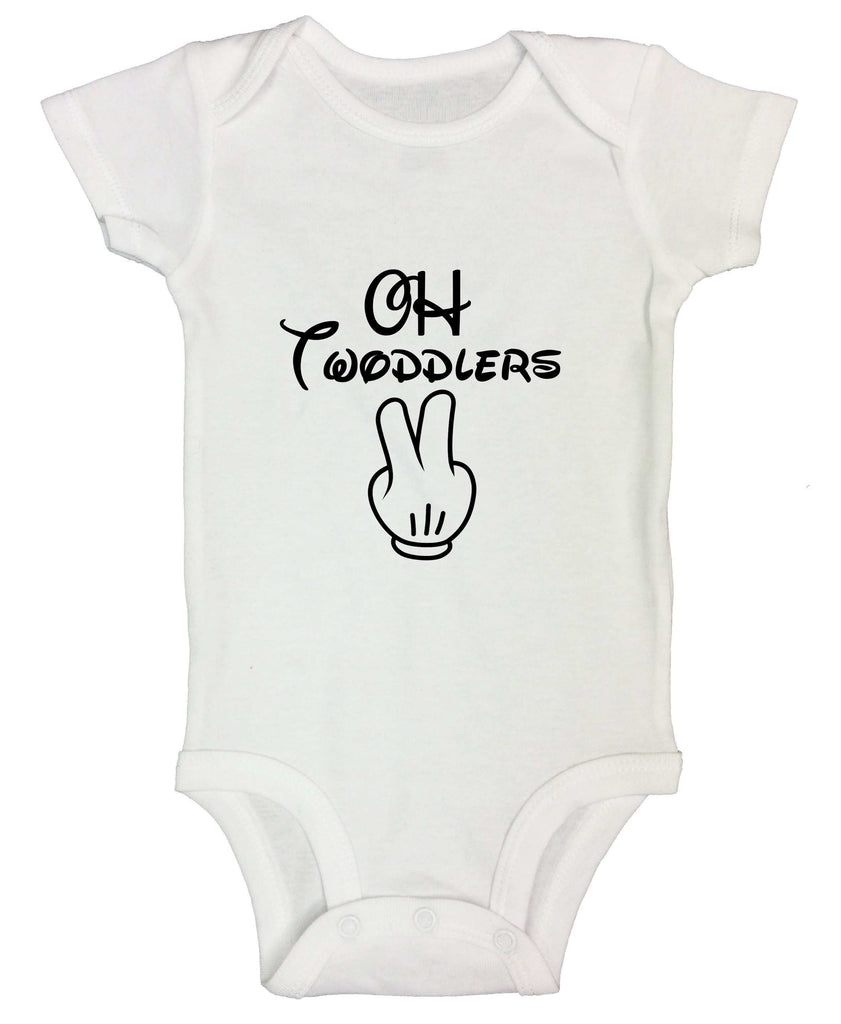 Oh Twodlers Funny Kids Onesie Funny Shirt Short Sleeve 0-3 Months