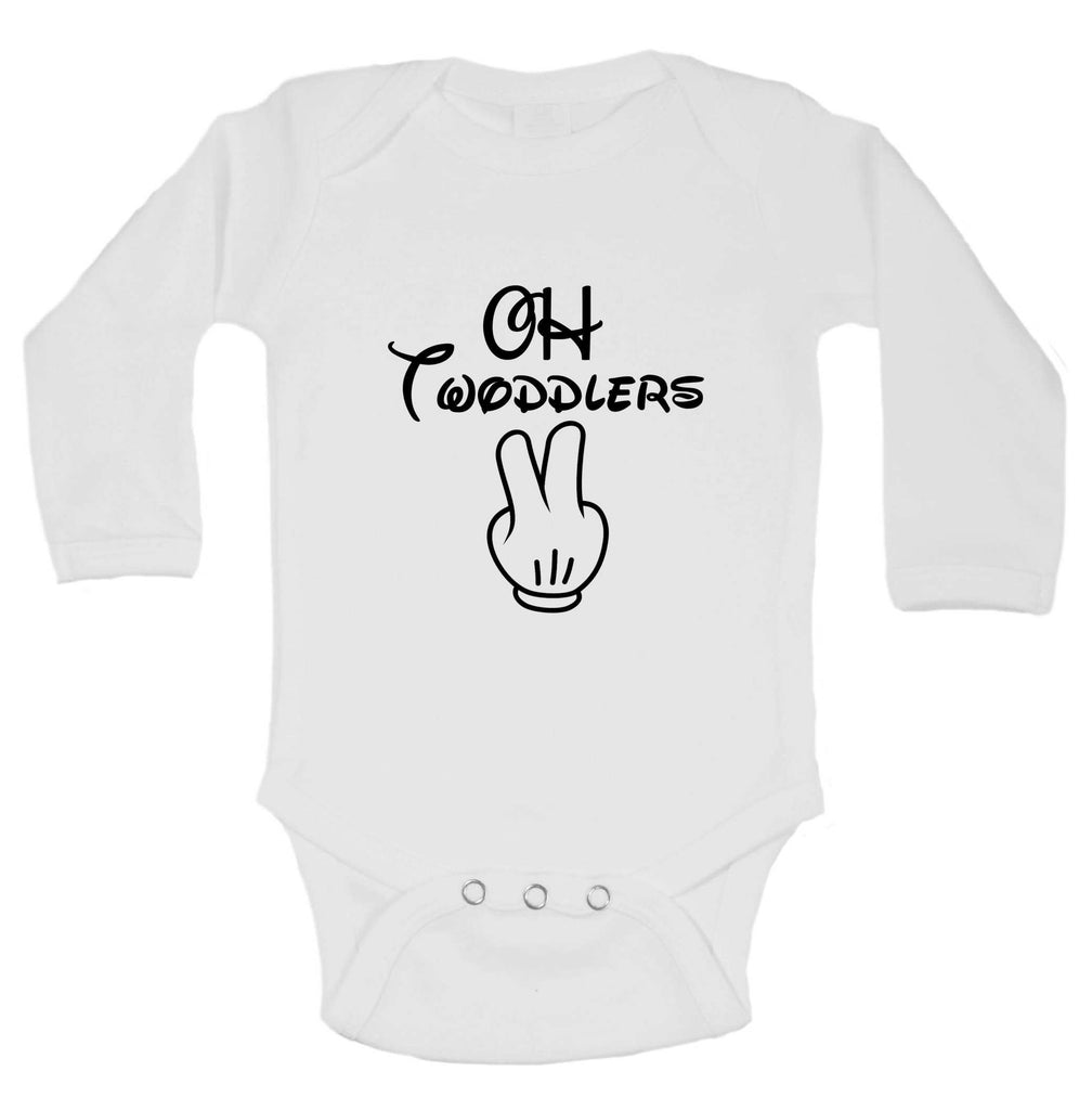 Oh Twodlers Funny Kids Onesie Funny Shirt Long Sleeve 0-3 Months