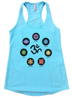 OM Womens Workout Tank Top Funny Shirt Small / Cancun Blue