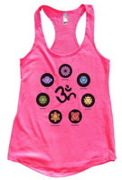 OM Womens Workout Tank Top Funny Shirt Small / Hot Pink