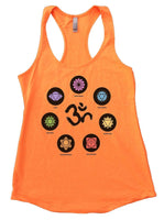 OM Womens Workout Tank Top Funny Shirt Small / Neon Orange