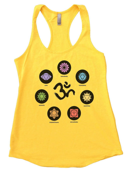 OM Womens Workout Tank Top Funny Shirt Small / Yellow