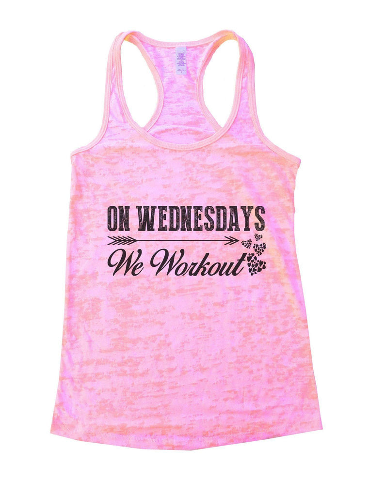 On Wednesdays We Workout Burnout Tank Top By Funny Threadz Funny Shirt Small / Light Pink