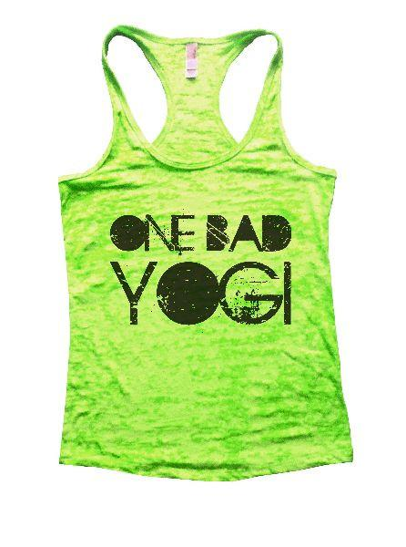 One Bad Yogi Burnout Tank Top By Funny Threadz Funny Shirt Small / Neon Green