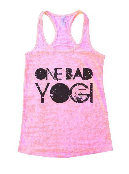 One Bad Yogi Burnout Tank Top By Funny Threadz Funny Shirt Small / Light Pink