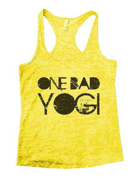 One Bad Yogi Burnout Tank Top By Funny Threadz Funny Shirt Small / Yellow
