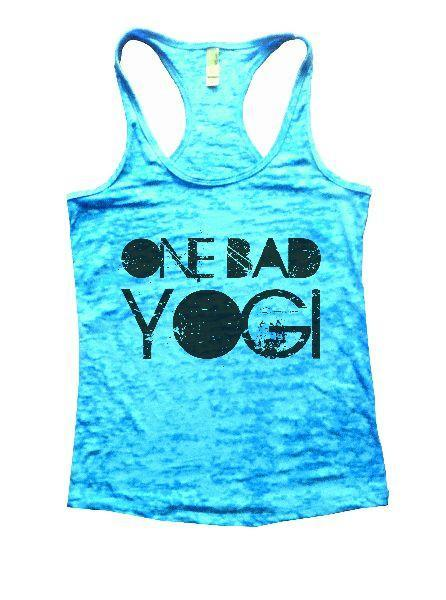 One Bad Yogi Burnout Tank Top By Funny Threadz Funny Shirt Small / Tahiti Blue