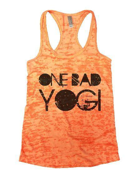 One Bad Yogi Burnout Tank Top By Funny Threadz Funny Shirt Small / Neon Orange