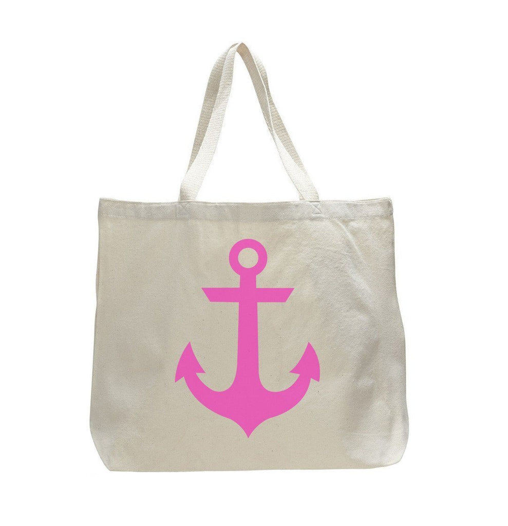 Pink Anchor - Trendy Natural Canvas Bag - Funny and Unique - Tote Bag Funny Shirt