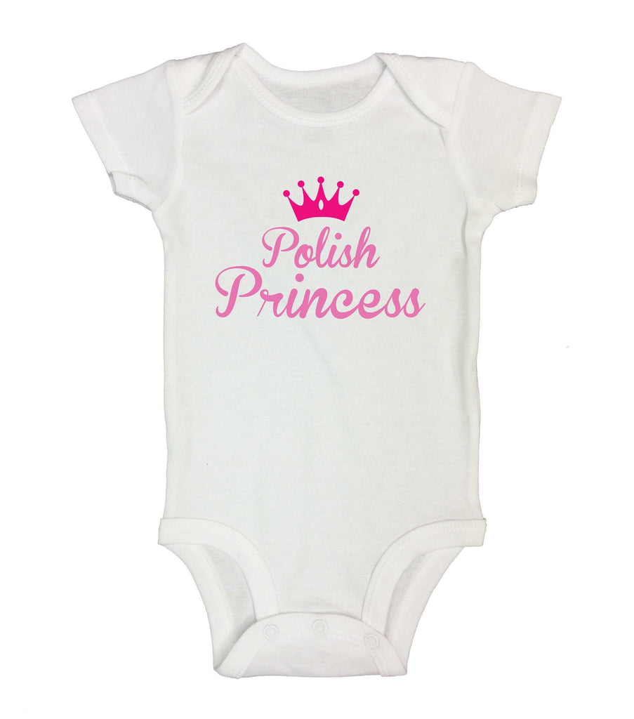 Polish Princess Funny Kids Onesie Funny Shirt Short Sleeve 0-3 Months