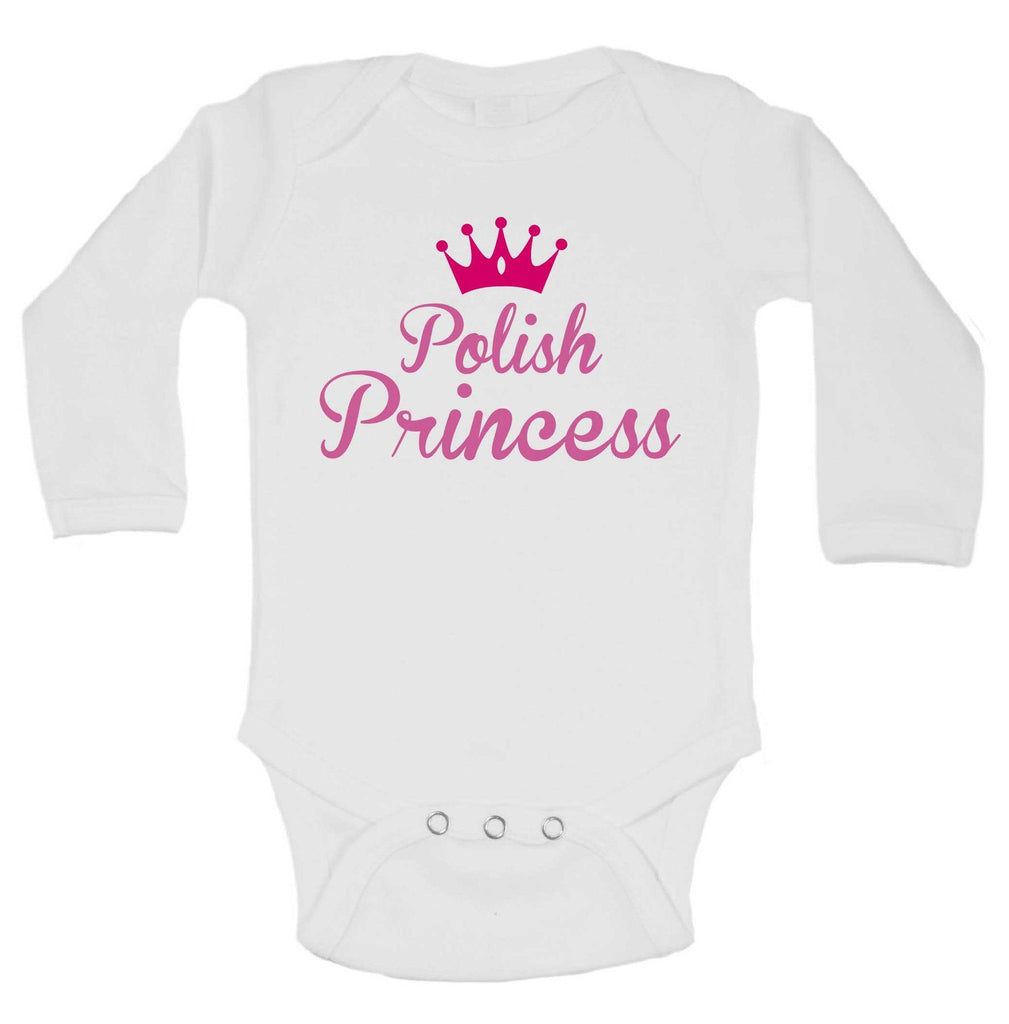 Polish Princess Funny Kids Onesie Funny Shirt Long Sleeve 0-3 Months