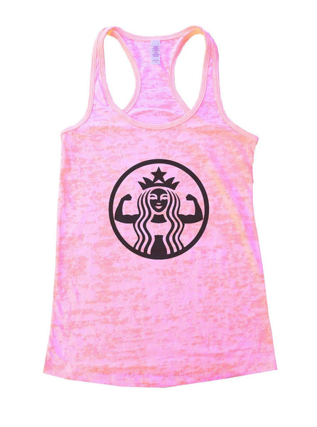 Queen Burnout Tank Top By Funny Threadz Funny Shirt Small / Light Pink