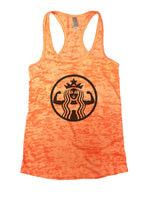 Queen Burnout Tank Top By Funny Threadz Funny Shirt Small / Neon Orange