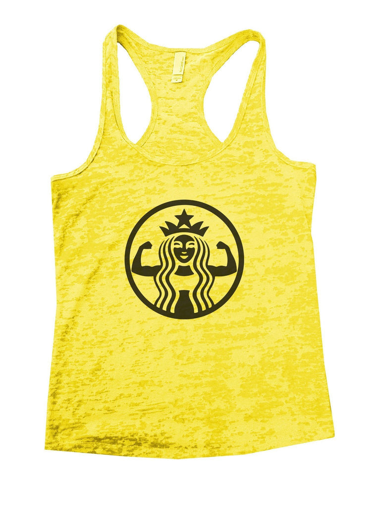 Queen Burnout Tank Top By Funny Threadz Funny Shirt Small / Yellow