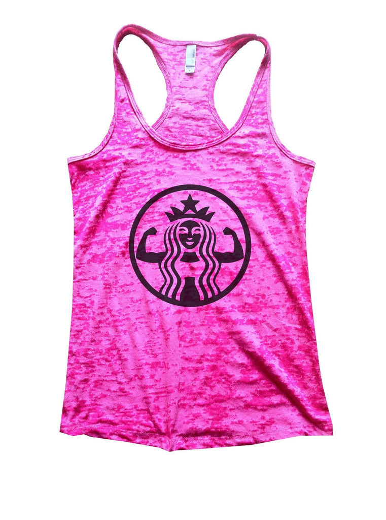 Queen Burnout Tank Top By Funny Threadz Funny Shirt Small / Shocking Pink