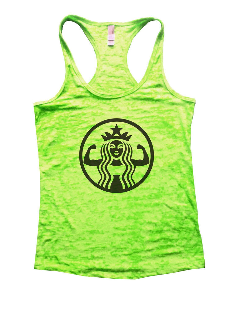 Queen Burnout Tank Top By Funny Threadz Funny Shirt Small / Neon Green