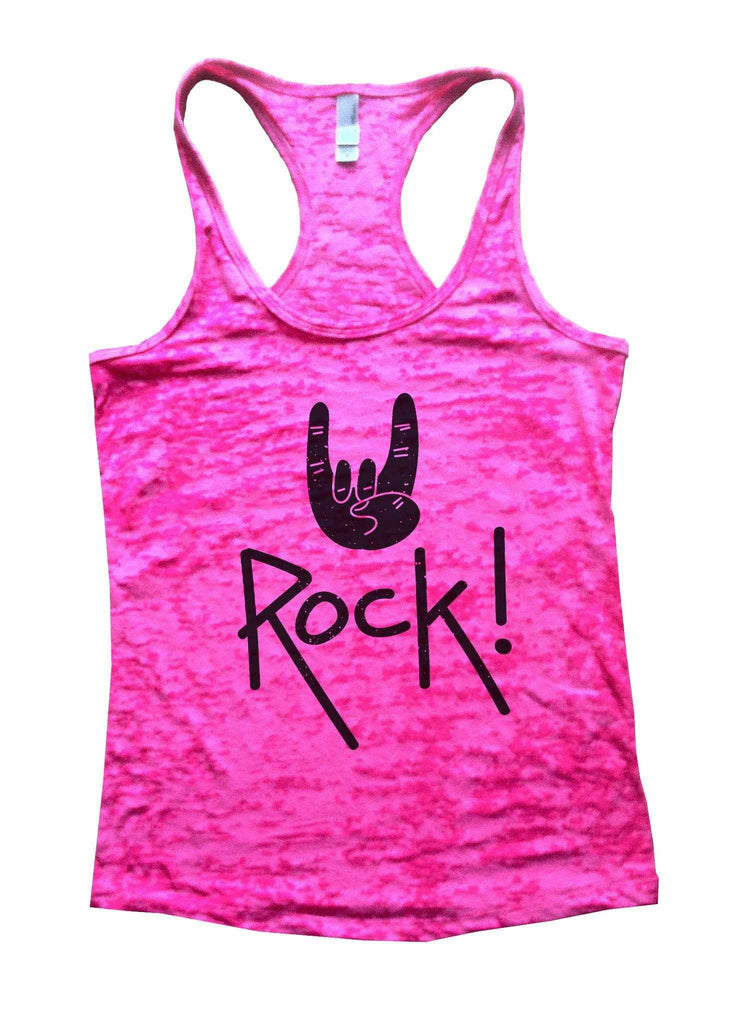 Rock Star Status Womens Burnout Tank Top By Funny Threadz Funny Shirt Small / Shocking Pink