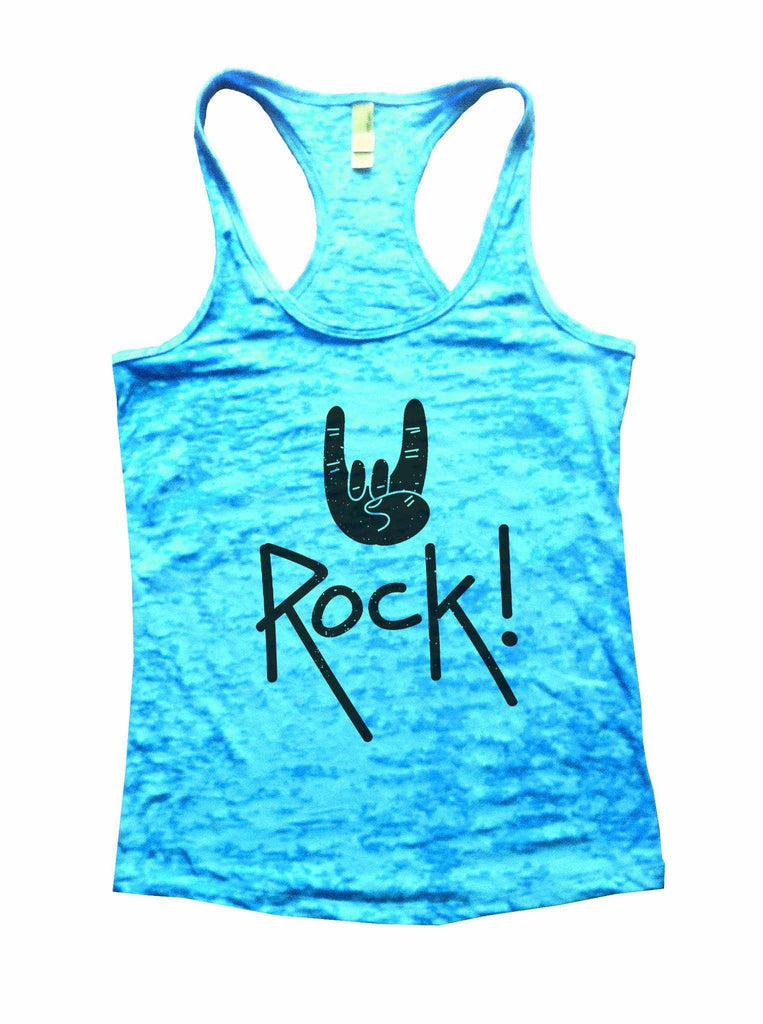Rock Star Status Womens Burnout Tank Top By Funny Threadz Funny Shirt Small / Tahiti Blue